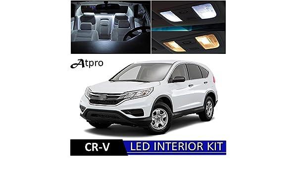 atpro Honda CR-V CRV 2013 - 2017 Xenon Blanco Led luces interior kit de paquete (10 unidades): Amazon.es: Coche y moto