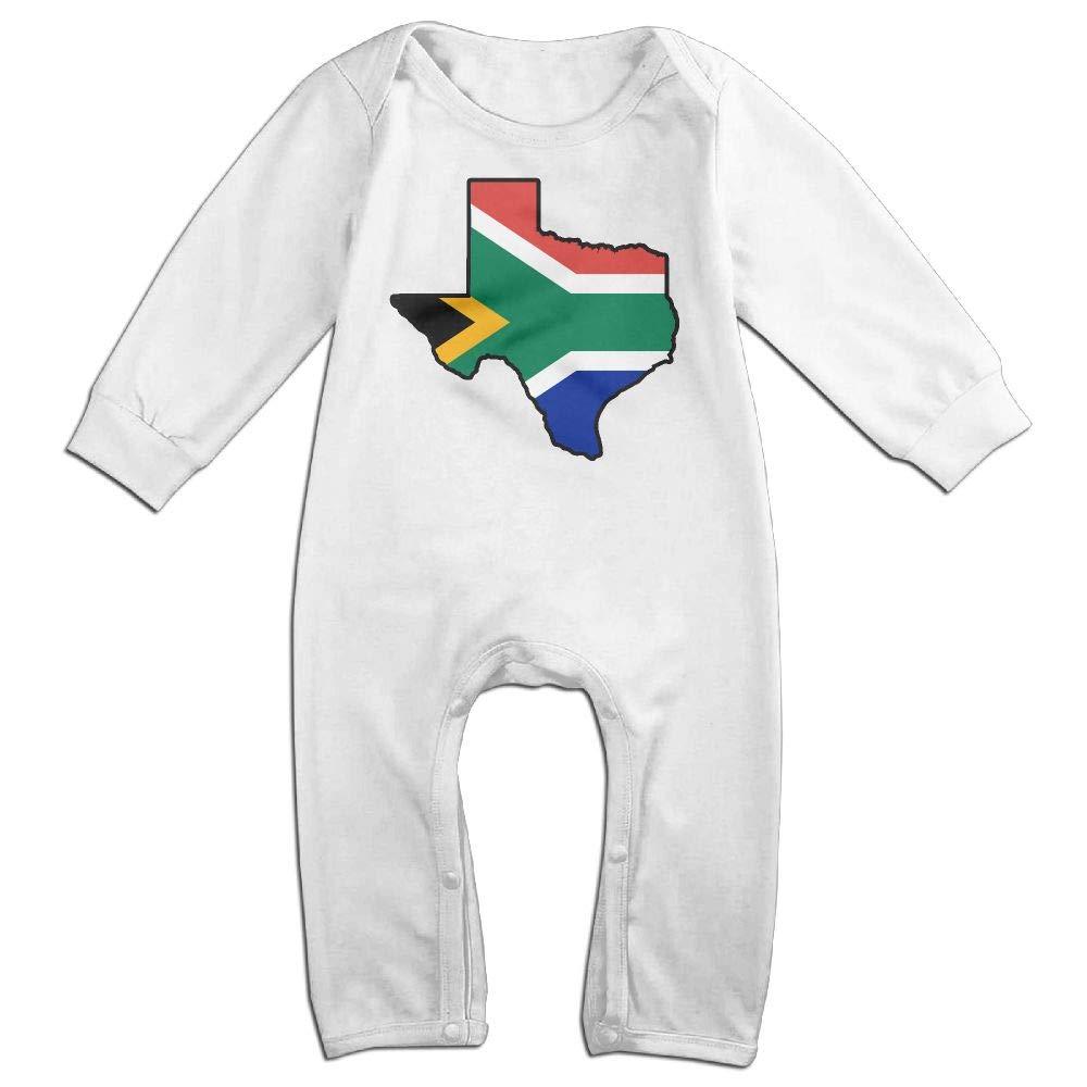 Mri-le1 Newborn Baby Jumpsuit South African Flag Texas Map Kid Pajamas