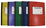 Norcom Wide Ruled 100 Sheets Composition Notebooks - Random Colors Chosen (Pack of 5)