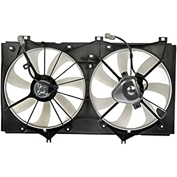Fits 2007 2008 2009 Toyota Camry 2.4L L4 Sedan Model Cooling Condenser Radiator Dual Fan Assembly w//Motor Replacement