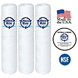 Watts SF5-20-425, Pentek WP5BB20P, WP5BB20P Compatible String Wound Water Filter Cartridges, 4.5 X 20 Inch, 5 Micron Replacement Water Filters (3) - with WS03X10039 O-Ring (1)