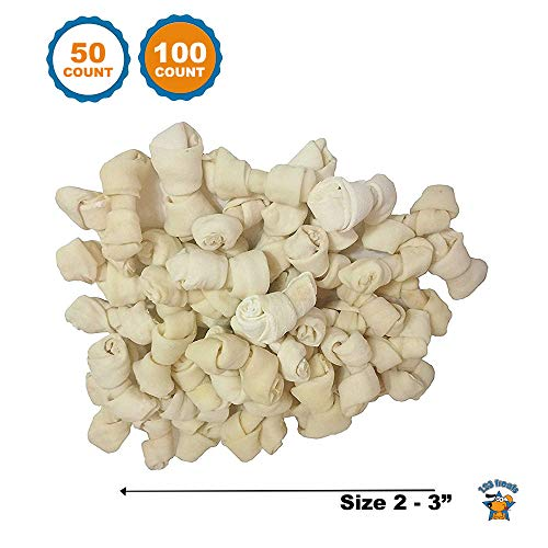 - 123 Treats | Rawhide Bones for small dogs 2-3