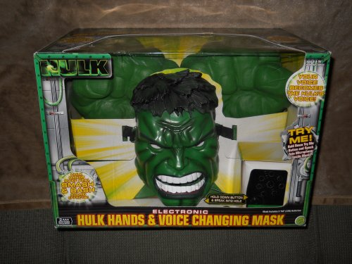 Electronic Hulk Hands & Voice Changing (Hulk Hands And Mask)