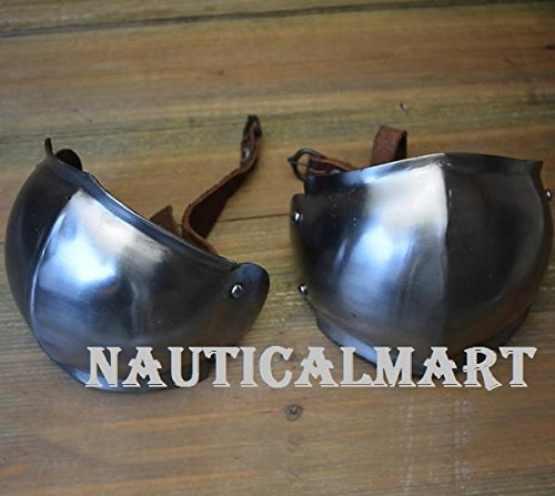 Medieval Steel Leg Armor poleyns by NAUTICALMART