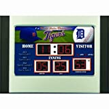 MLB Detroit Tigers Scoreboard Desk Clock