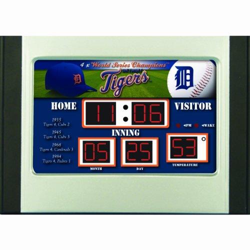 MLB Detroit Tigers Scoreboard Desk (Mlb Baseball Alarm Clock)