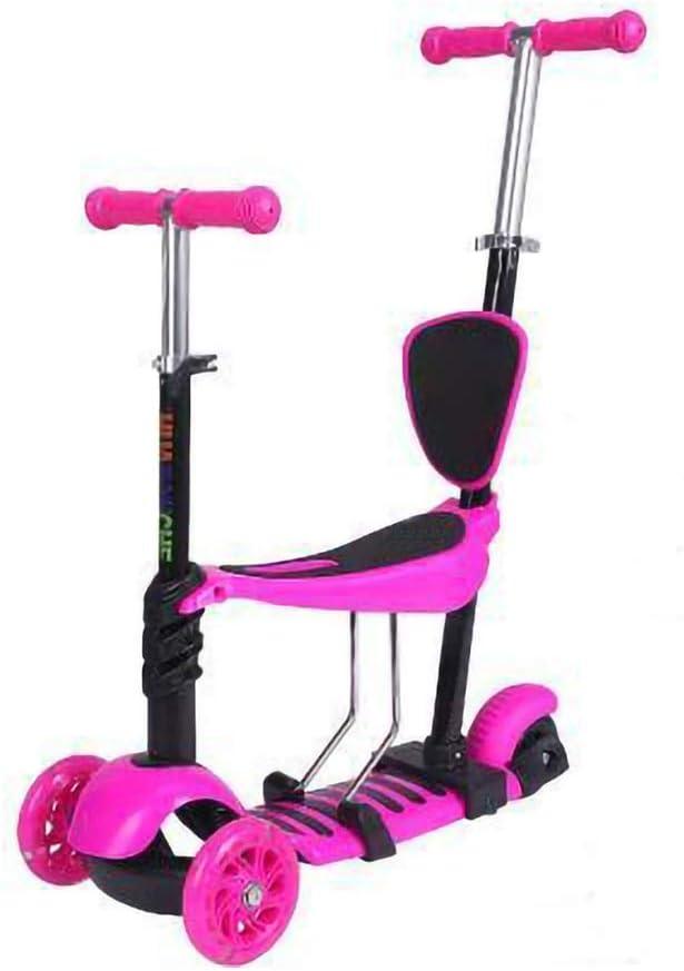 Hkkint 子供用三輪スクーター、ペダル自転車、調節可能、多目的スクーター、子供用自転車 ( Color : ピンク )