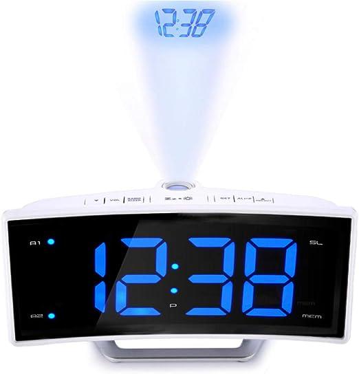 FPRW Despertador electrónico, Reloj de Espejo del Reloj del ...