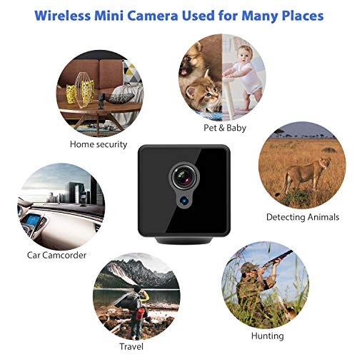Mini Spy Camera WiFi, Relohas 1080P Spy Hidden Camera Upgraded Night Vision Spy Cam, Portable Nanny Camera with Motion Detection for Home/Office Security and Outdoor (with Cell Phone App) by Relohas (Image #7)