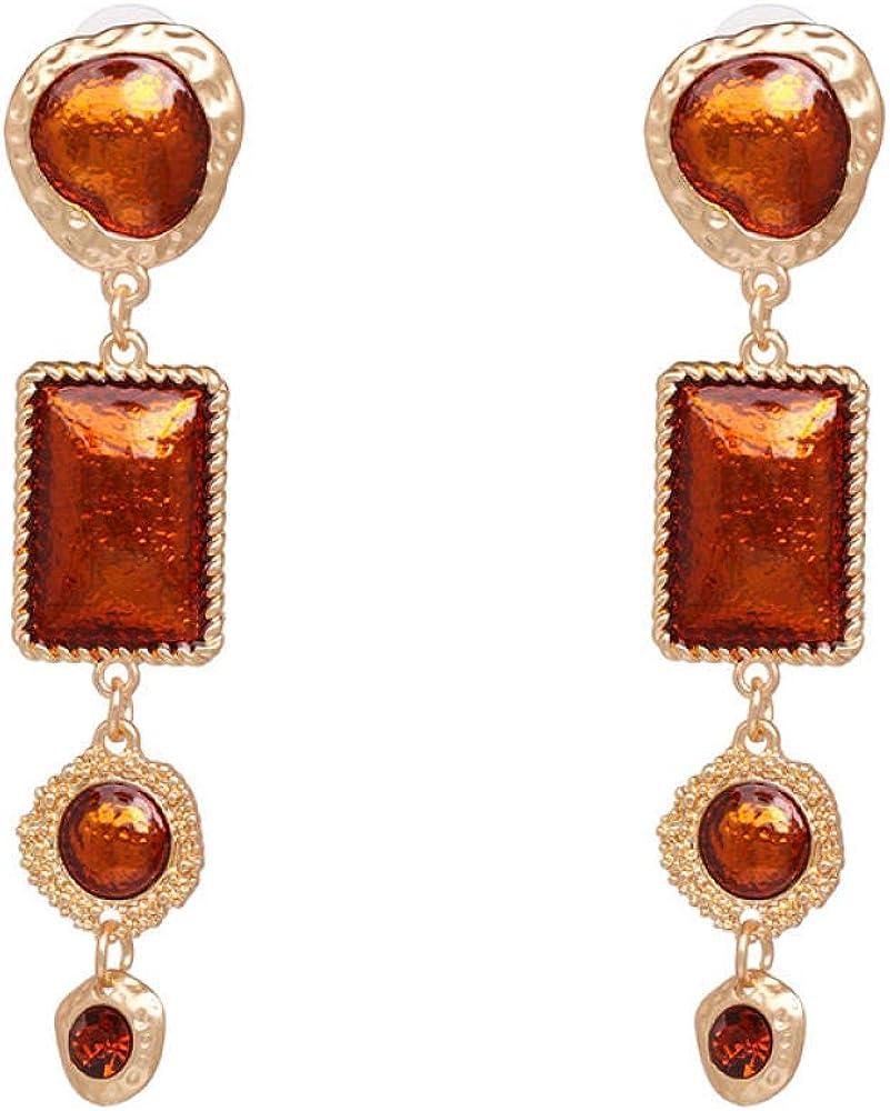 SARUI Aleación pendientes de diamantes pendientes de piedras preciosas de las mujeres hipoalergénico libre de níquel boda joyería de la joyería del partido regalos de vacaciones románticas