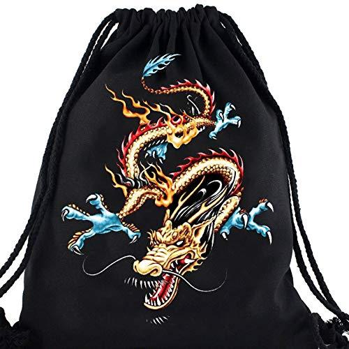 Dragon Motif De Imprimé À Avec Animalier Fille Casual Garçon D'école Chaussures Souple Numérique Plage Dos Sac Damengxiang Cordon 8CqpE