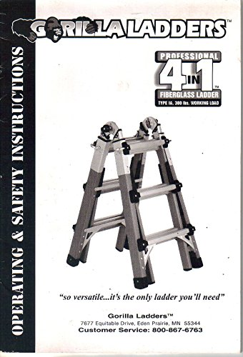 Gorilla Ladders, Fiberglass, Operating and Safety Instructions