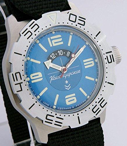 Amazon.com: Vostok Komandirskie K-35 Russian Military Watch Blue with Zulu Strap K35 2432 / 350669: Watches
