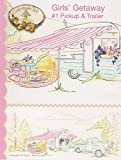 "Girls' Getaway #1 Pickup & Trailer Embroidery Pattern by Meg Hawkey From Crabapple Hill Studio #2553 - 31"" x 12.5"""