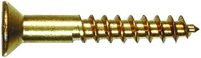 The Hillman Group 2727 9 X 1-Inch Brass Flat Phillips Wood Screw 30-Pack