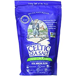 Celtic Sea Salt Fine Ground, (1) 16 Ounce Resealable Bag, Great for Cooking & Baking, Pickling or Finishing, Gluten Free, Kosher, Paleo-Friendly