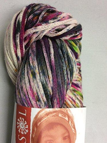 Pima Splash Peruvian Handpainted Cotton Yarn #102 (PurpleGreenPink) by Knitting Fever/Euro Yarns