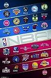 Trends International Wall Poster Nba Logos 17, 22.375' x 34'