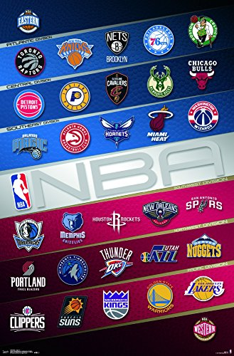 Trends International NBA - Logos Premium Wall Poster, 22.375