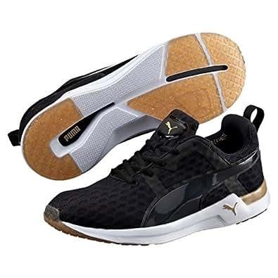PUMA Women's Pulse Xt V2, Black-Gold, 10 US Running Shoes