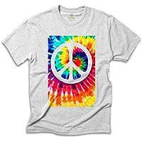 Camiseta Hippie Cool Tees Tie Dye Simbolo da Paz