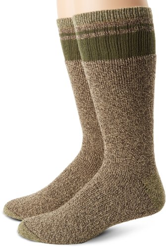 Dickies Men's 2 Pack Cotton Thermal with Stripe Accents Boot
