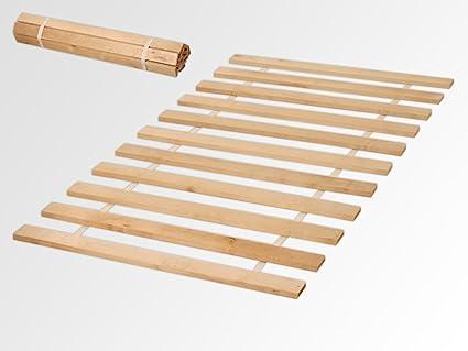 SOMIER enrollable (90 x 200 cm o 140 x 200 cm Somier, 11 x listones Roll parrillas Flex Nuevo