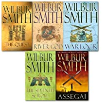 Wilbur Smith Collection 5 Book Set. (The Quest, the seventh scroll, river god...
