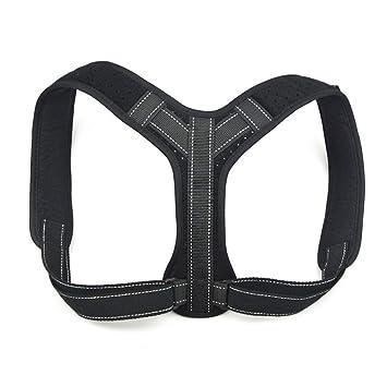Mosie Corrector de postura para mujeres y hombres debajo de la ropa, sujetador de postura, ajustable en la espalda ...