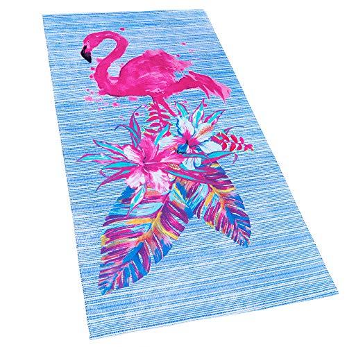 Softerry Flamingo Beach Towel 30 x 60 inches 100% Cotton (Beach Towels Flamingo)