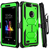 Innens for ZTE Blade Z Max Case, ZTE Sequoia Case, ZTE ZMax Pro 2 Case, ZTE Z982 Case, Hybrid Heavy Duty Anti-scratch Shockproof Protective Case with Kickstand Belt Clip (Green)