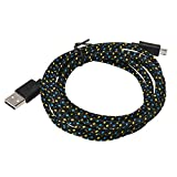 Xindda 3M/10FT Micro USB Charger Sync Data Cable Cord for Cell Phone(Black)