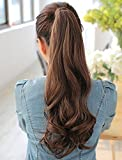 Fully Curly Ponytail Extensions For Women And Girls, Brown, 60 Grams, Pack Of 1