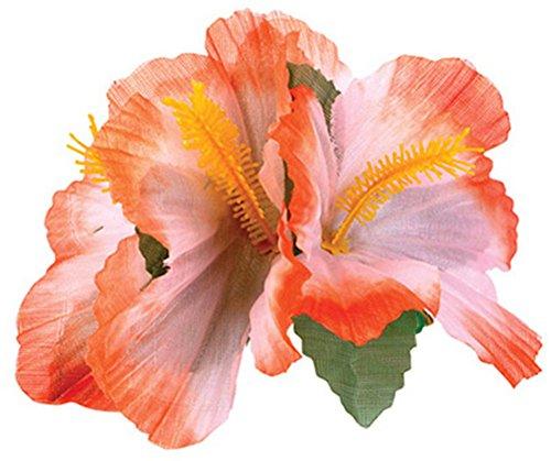 Orange Hawaiian Hibiscus Costume Accessory
