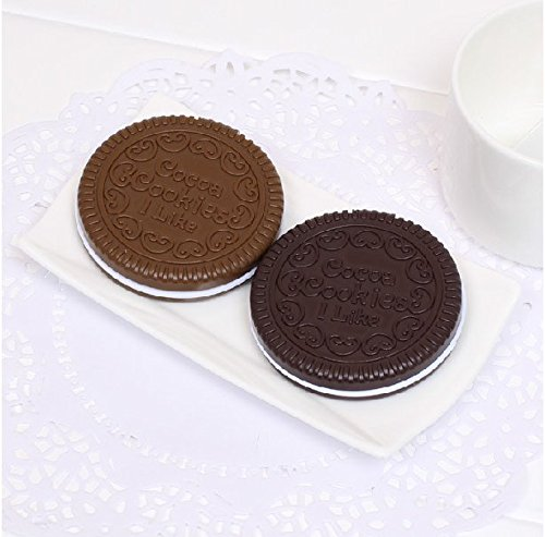 MotorFansClub Mini Cookie Shaped Design Mirror Makeup Comb (Random delivery) (1pcs)