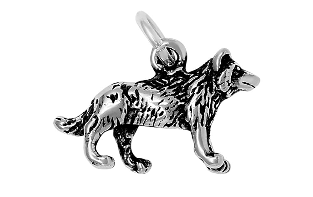 16, 18 or 20 Chain Raposa Elegance Sterling Silver 3D North American Wolf Charm Necklace