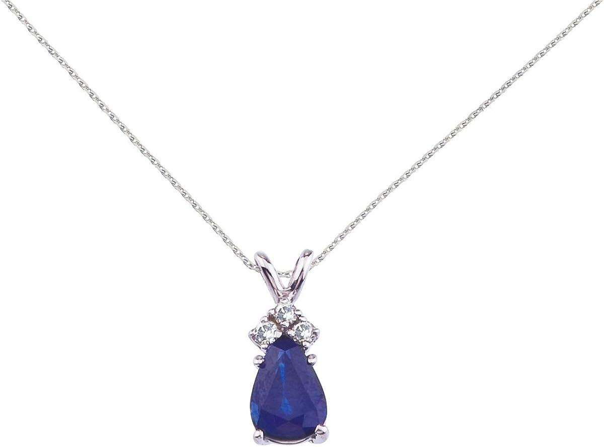 14 K blanco de diseño de pera Sapphire lámpara de techo colgante con diamantes
