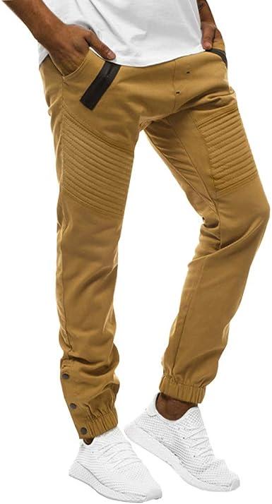 MrTom Pantalon Chino Hombre Largos Algodón Pantalones ...
