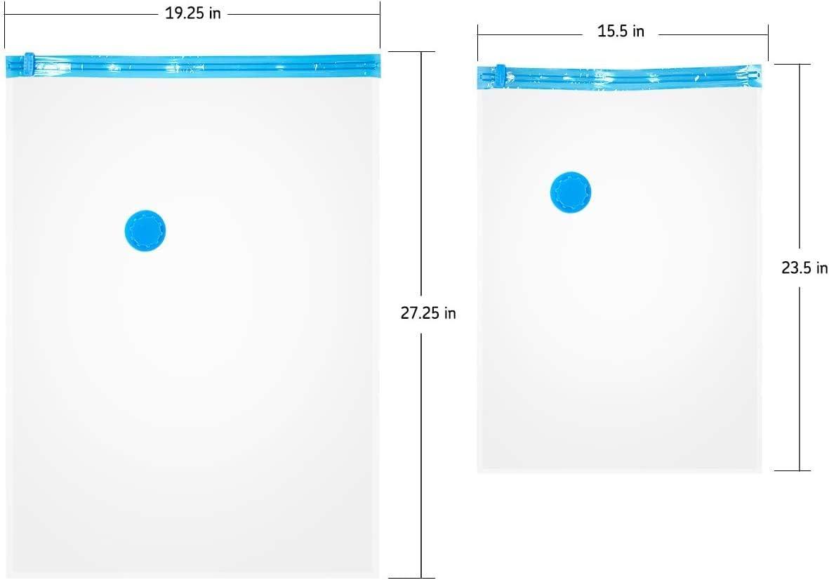 Se Puede Usar Para Ropa 4 pcs La Bolsa De Almacenamiento De Ropa Resistente Al Agua Y Duradera Puede Ahorrar M/ás Del 80/% Del Espacio Bolsa De Almacenamiento Al Vac/ío 1 * 40x60cm + 3 * 80x60cm