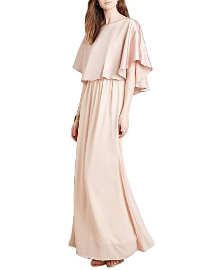 Buy LoveURAPpearance Satin / Crepe Lightweight Designer Long Dress for  Girl's & Women's (LU2150856) at Amazon.in