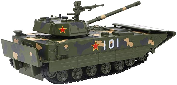 Coo11 Large Army Tank Toys Gifts Boys Toddlers Light And Sound Friction Powered