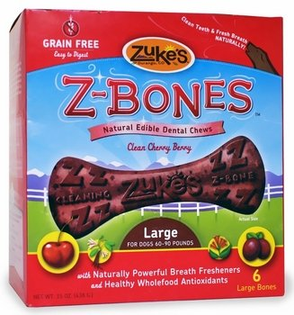 Dog Supplies Z-Bone Large Cherry 6 pack, My Pet Supplies
