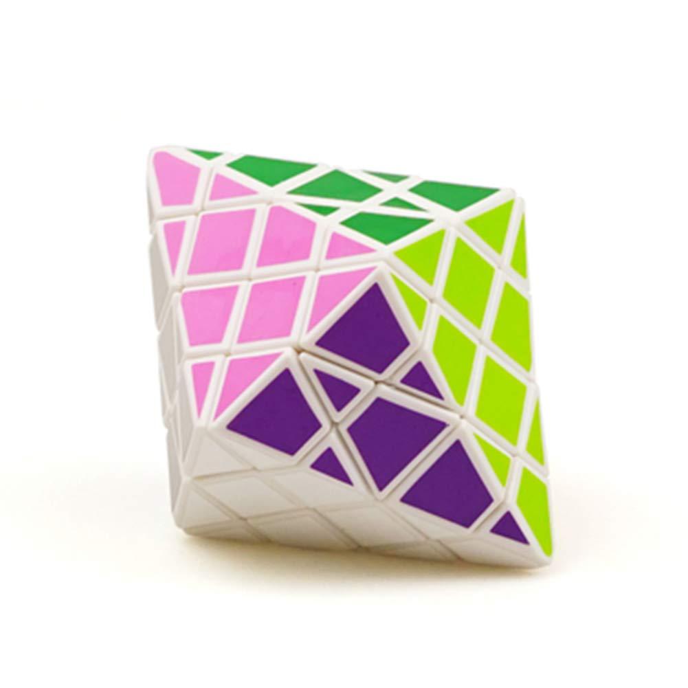 JIAAE Achteckige Kegel Zauberwü rfel Professionelle Wettbewerb Hohe Schwierigkeit Rubik Kinder Puzzle Spielzeug, Black