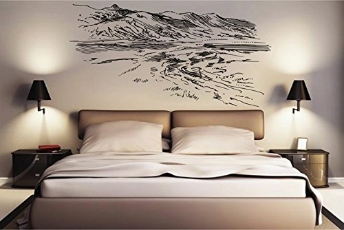 ik2526 Wall Decal Sticker turkey nature hills bedroom living room Hill Bedroom