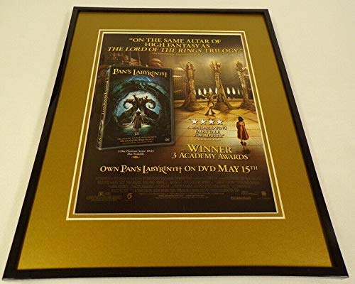 Pan's Labyrinth 2007 Framed 11x14 ORIGINAL Advertisement Guillermo Del Toro