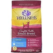 Wellness Complete Health Natural Dry Small Breed Senior Dog Food, Turkey & Peas, 4-Pound Bag