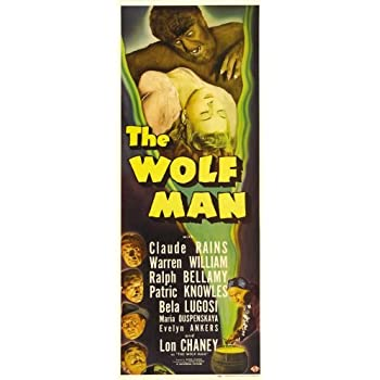 Wolfman The Movie Poster Insert #01 Replica