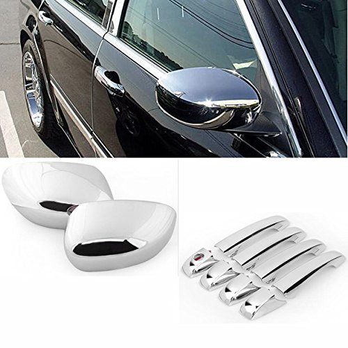 Chrome Durable Side Door Handle + RearView Mirror Cover For Chrysler 300/300C Dodge Magnum