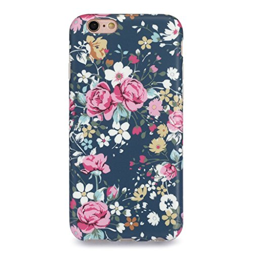 iPhone 6S Case for Girls/iPhone 6 Floral Case, GOLINK Floral Series MATTE Finish Slim-Fit Anti-Scratch Shock Proof Anti-Finger Print Flexible TPU Gel Case For iPhone 6S/iPhone 6 - Vintage Roses
