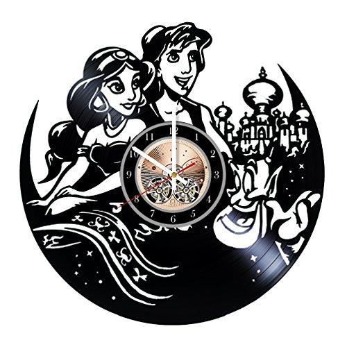 Aladdin Jasmine Disney Vinyl Record Wall Clock 12